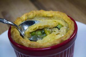 Chicken Pot Pie with Sweet Potato Crust