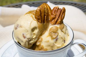 Double Bourbon Pecan Ice Cream