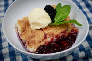 Southern Peach and Berry Cobbler