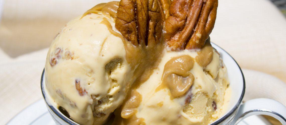 Double Bourbon Pecan Ice Cream