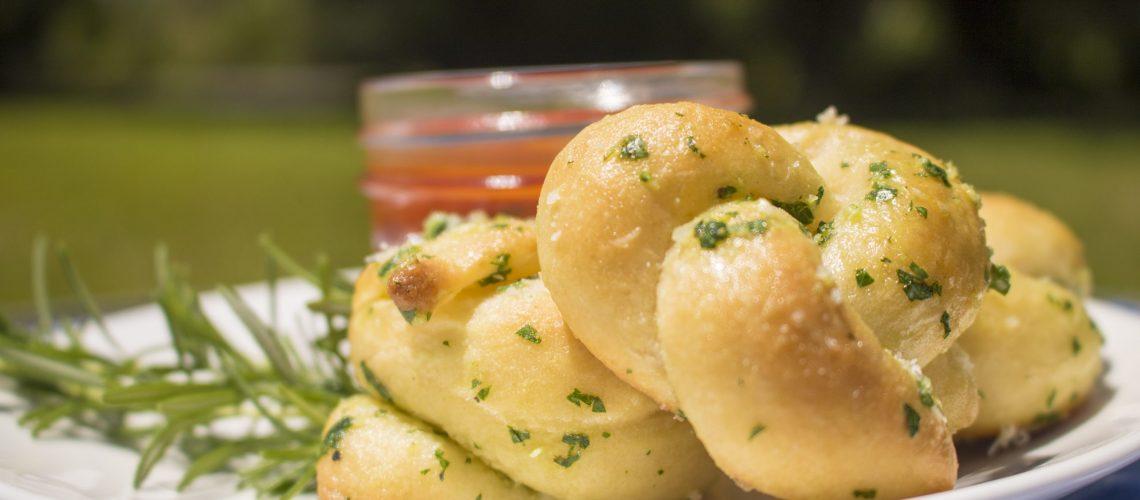Buttery Herb Garlic Knots