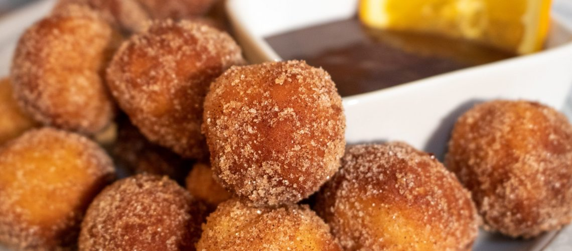 Orange Infused Buttermilk Donuts with Chocolate Dipping Sauce